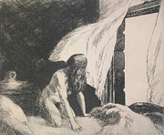 Black And White Nudes Prints - Evening Wind Print by Edward Hopper