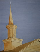 Religious Artist Paintings - Evening Worship by Stacy Bottoms