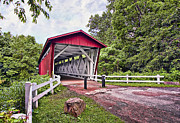 Everett Rd. Covered Bridge Photos - Everett  Bridge by Marcia Colelli