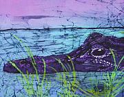 Alligator Tapestries - Textiles - Everglades Gator Fine Art Batik by Kay Shaffer