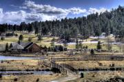 Colorado Stream Prints - Evergreen Colorado Lakehouse Print by Ron White