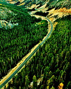 Scenic Drive Prints - Evergreen Highway Print by Benjamin Yeager