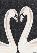 Swans... Paintings - Everlasting Love by Heidi Bjork