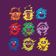 Cartoon Monster Prints - Every Colors On The Street Print by Budi Satria Kwan