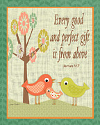 Juvenile Wall Decor Prints - Every Good Gift Print by Jean Plout