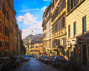 Francesco Digital Art - Everyday Italy - Streets of Rome by Mark E Tisdale