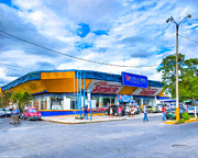 Costa Digital Art Prints - Everyday Life On The Streets Of Costa Rica Print by Mark E Tisdale