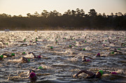 Ironman Photos - Everyone Swimming by Brian Grzelewski