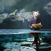 Cat Digital Art - Everything is a matter of time by Martine Roch
