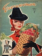 Nineteen-forties Art - Everywoman 1940s Uk Shopping Magazines by The Advertising Archives