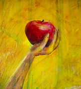 Eve Paintings - Eves Apple - Large by Nik Helbig