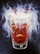 Scottsdale Mixed Media - Evil Drink by Ksusha Scott