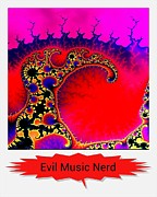 Nerd Framed Prints - Evil Music Nerd Framed Print by Daryl Macintyre