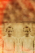 Sisters Metal Prints - Evil Twins Metal Print by Edward Fielding