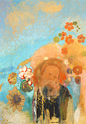 Sunflower Paintings - Evocation of Roussel by Odilon Redon