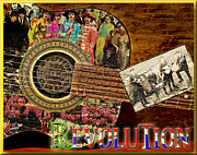 Beatles Digital Art - Evolution by John Anderson