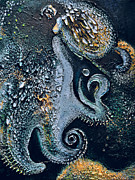 Octopus Mixed Media Framed Prints - Evolving Sirenian Framed Print by Sallie-Anne Swift