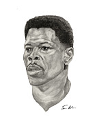Knicks Painting Prints - Ewing Print by Tamir Barkan