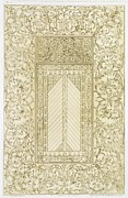 Ornate Drawings - Example of a Turkish Chimney by Jean Francois Albanis de Beaumont