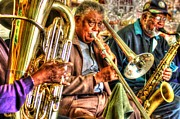 Mobile Digital Art Originals - Excelsior Band 3 Piece by Michael Thomas