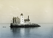 Lighthouse Digital Art - Execution Rocks Lighthouse New York  by Digital Reproductions