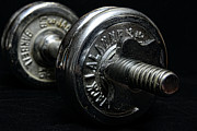 Weights Posters - Exercise  Vintage Chrome Weights Poster by Paul Ward