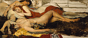 Nude Posters - Exhausted Maenides Poster by Sir Lawrence Alma Tadema