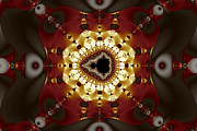 Golden Digital Art - Exiled Mandelbrot No. 9 by Mark Eggleston