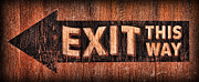 Exit Sign Posters - Exit Sign Poster by Lee Dos Santos