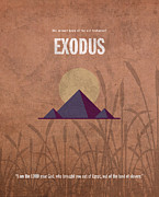 Jewish Mixed Media Framed Prints - Exodus Books of the Bible Series Old Testament Minimal Poster Art Number 2 Framed Print by Design Turnpike