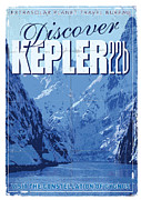 Space Travel Prints - Exoplanet 02 Travel Poster KEPLER 22b Print by Chungkong Art