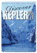 Exoplanet 02 Travel Poster Kepler 22b Print by Chungkong Art