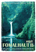 Futurism Posters - Exoplanet 04 Travel Poster Fomalhaut b Poster by Chungkong Art