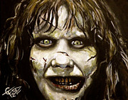 Classic Horror Framed Prints - Exorcist Framed Print by Tom Carlton