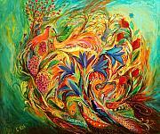 Exotic Flowers Print by Elena Kotliarker