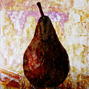 Fruit Still Life Posters - Exotic Pear Poster by Carol Leigh