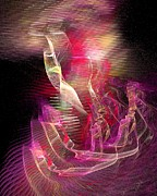 Vivacious Digital Art - Expanding 2 by Jeanne Liander