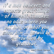 Affirmation Digital Art Posters - Expect Great Things - Thoreau Poster by Mark E Tisdale