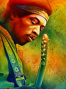 Jimi Hendrix Painting Prints - Experienced  Print by Scott Spillman
