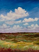 Florida Paintings - Exploring Paynes Prairie by Eve  Wheeler