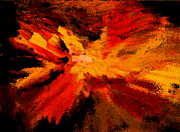 Black Rocket Digital Art - Explosion by Karen Adams