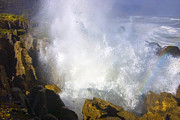 Blowhole Prints - Explosive Print by Mike  Dawson