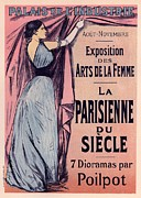 Paris Digital Art Framed Prints - Exposition des Arts de la Femme Framed Print by Sanely Great