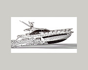 Express Sport Yacht Print by Jack Pumphrey