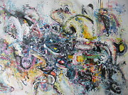 Expressionsim Paintings - Expressionism Abstract Painting Large by Seon-Jeong Kim
