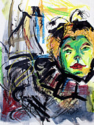 Expressive Homage To Henri De Toulouse-lautrec At The Moulin Rouge Print by Ginette Fine Art LLC Ginette Callaway