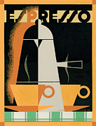 Vintage Coffee Posters - Expresso Poster by Brian James