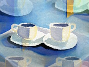 Two Coffee Cups Framed Prints - Expressos Shoulder  Framed Print by Frederick Luff  GALLERY