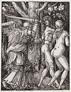 Adam And Eve Framed Prints - EXPULSION from PARADISE - ALBRECHT DURER Framed Print by Daniel Hagerman