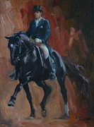 Lisa Phillips Owens Painting Prints - Extended Trot Print by Lisa Phillips Owens